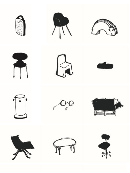 Design icons from The Little Book of Danish Design
